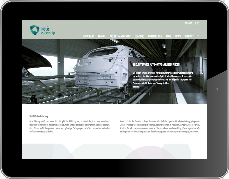 Markenentwicklung und Corporate Design für Metis Leadership